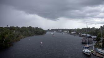 Heavy rain falls in Florida ahead of Tropical Storm Elsa.