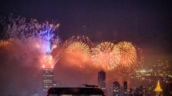 Fireworks in New York.