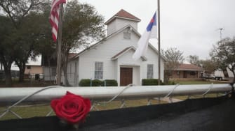 The First Baptist Church in Sutherland Springs, Texas.