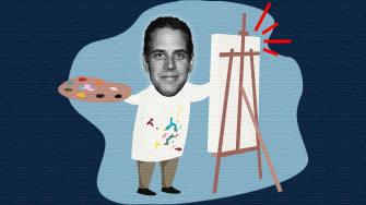Hunter Biden paints.