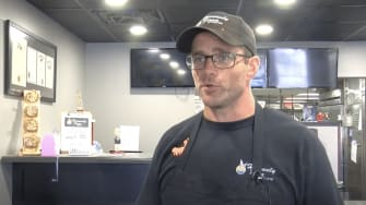 Heavenly Pizza owner Josh Elchert.