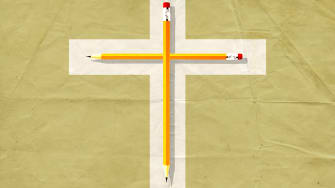 Pencil cross.