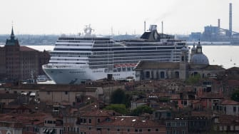 A cruise ship in Venice