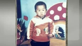 Guo Xinzhen at age 2.
