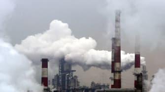 An oil refinery