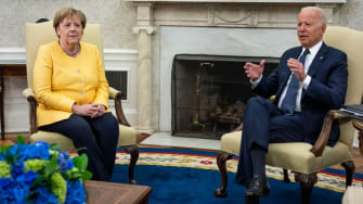 Angela Merkel and Joe Biden.