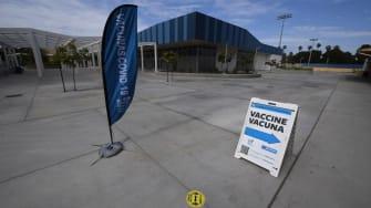 COVID-19 vaccine site.