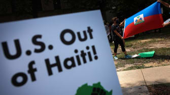 Protest against U.S. intervention in Haiti.