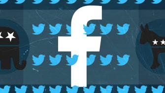 Social media logos.