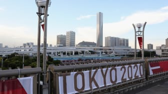 A sign for the Tokyo Olympics