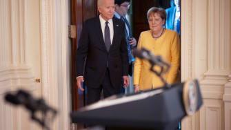 Joe Biden, Angela Merkel.