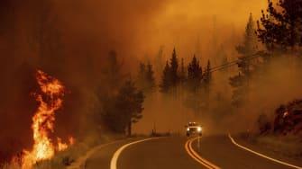 Wildfire in California.