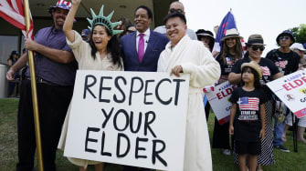 Larry Elder and two fans.
