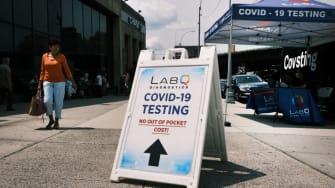 COVID-19 testing site.