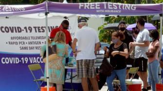 COVID-19 testing in Florida.