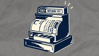 A cash register.