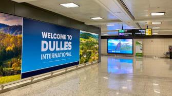 Dulles airport, international arrivals.