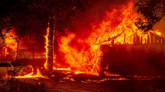 A California fire