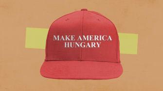 A MAGA hat.