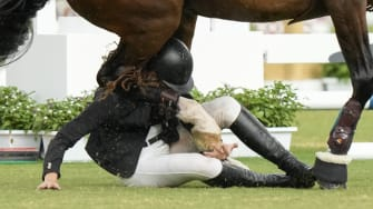 A horse accident.