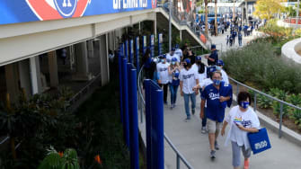 The crowd at Dodgers Stadium this spring.