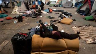Migrant shelter in Tijuana