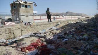 Kabul airport bombing site