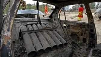 Rocket-launcher car in Kabul