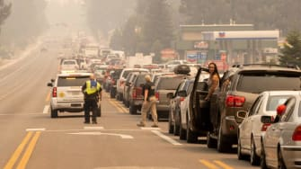 Traffic in South Lake Tahoe on Monday.