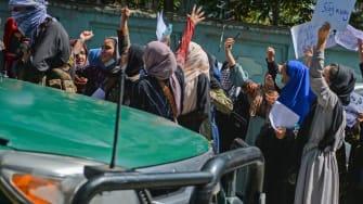 Protestors in Kabul.