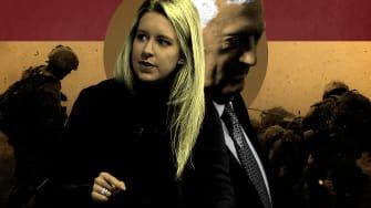 Elizabeth Holmes and James Mattis.