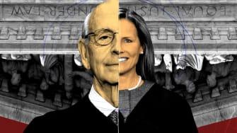 Stephen Breyer and Amy Coney Barrett.