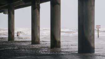 Surfing Tropical Storm Nicholas