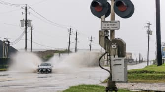 Galveston in Hurricane Nicholas