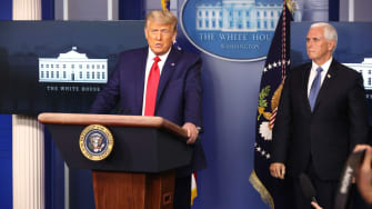Donald Trump, Mike Pence.