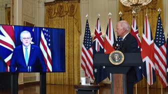 Scott Morrison and Joe Biden