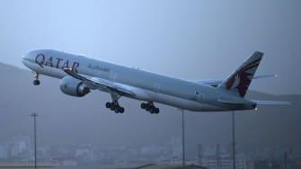 Qatar Airways flight.