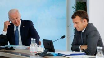 Biden and Macron.