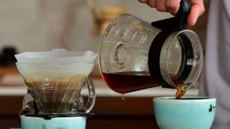 Pour-over coffee.
