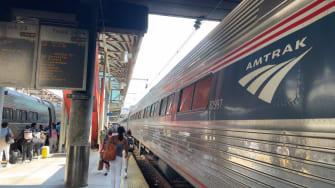 Amtrak train.