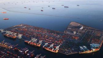 Long Beach port.