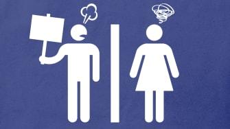 Bathroom symbols.