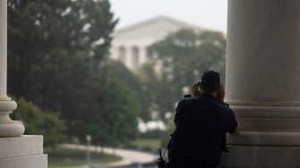 Capitol Police investigate suspicious activity outside Supreme Court.