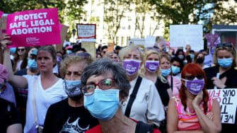 Pro-choice demonstrators.