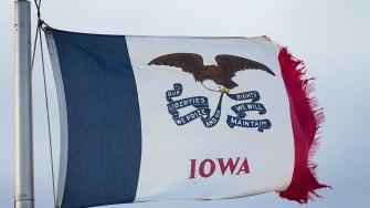 Iowa state flag.