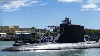 A Virginia-class nuclear submarine.