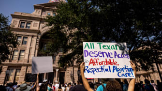 Pro-choice demonstrators in Texas.