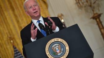 Biden talks about supply chain issues