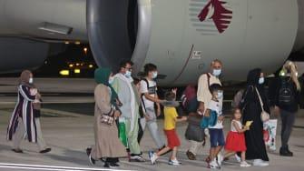 Afghan evacuees.