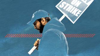 A striking worker.